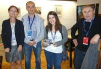 De gauche à droite : Christine Collet (présidente des journées), Jean-Marc Petit, Manel Charfi  et Michel Adiba