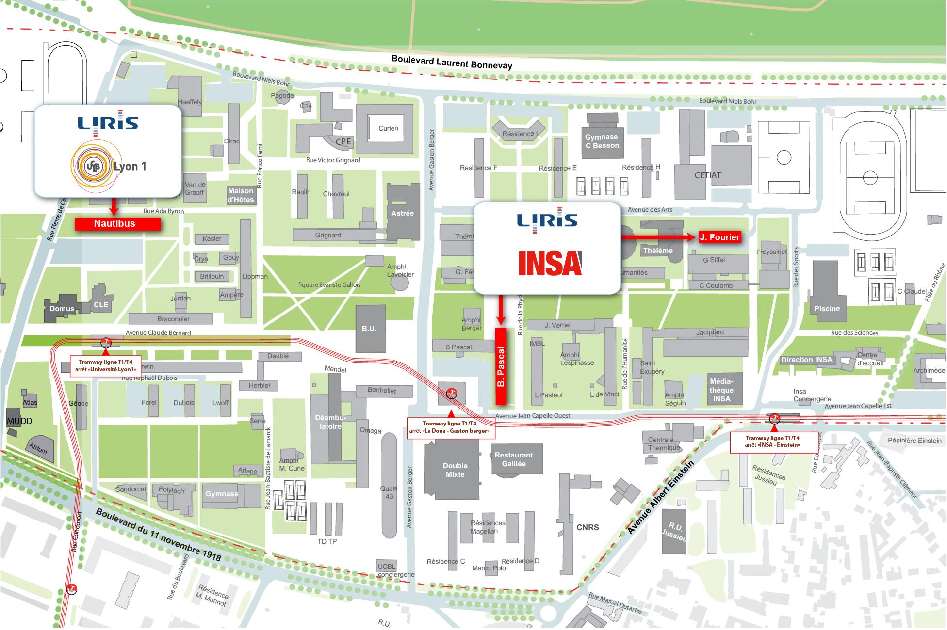 Du Campus Map on